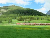 Glacier-Bernina-Reise, Fahrt durch das Engadin nach Pontresina