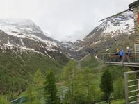 Glacier-Bernina-Reise, Fahrt mit dem Bernina-Express - Blick von der Alp Grüm