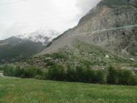 Glacier-Bernina-Reise, Fahrt mit dem Glacier-Express - Felssturz Randa