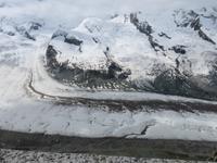 Glacier-Bernina-Reise, Ausflug auf den Gornergrat - Blick zum Gornergletscher