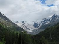 Piz Bernina mit Morteratschgletscher