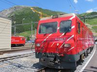 Fahrt mit dem Glacier-Express - in Andermatt