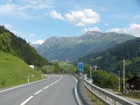 Auf der Fahrt nach Davos
