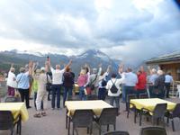 Ein Gruß von allen an das Matterhorn