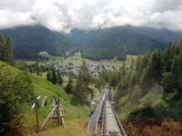 Fahrt hinunter nach Davos