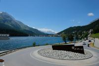 Der  See in St. Moritz