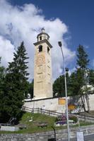 Schiefer Turm in St. Moritz