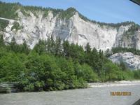 Mit dem Glacier Express unterwegs - die Rheinschlucht