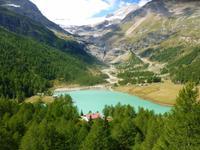 Fahrtimpressionen Bernina-Express (Palü-See)