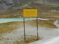 Fahrt mit dem Bernina-Express (Wasserscheide auf dem Bernina)