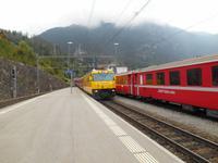 Bahnhof in Filisur (Abfahrt mit dem Glacier-Express)