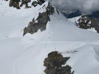 Eiger, Mönch, Jungfrau - Ausflug Jungfraujoch - Blick zum Plateau