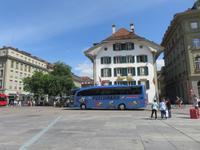Eiger, Mönch, Jungfrau - Ausflug nach Bern Stadtführung - Bundesplatz mit unserem Bus