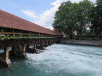 Eiger, Mönch, Jungfrau - Ausflug nach Thun - Wehr an der Aare