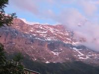 Eiger, Mönch, Jungfrau - Abendrot am Eiger