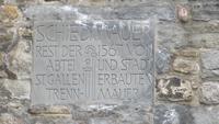 0020 St. Gallen - Stadtführung -Ehemalige Sperrmauer des Stiftsbezirkes