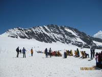 Schneetreiben auf dem Jungfraujoch