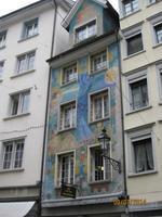 reichhaltige Fassadenverzierung in St. Gallen