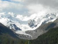 Fahrt mit dem Bernina-Express (Morteratsch-Gletscher)