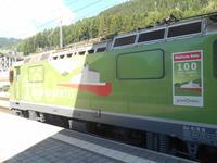 Fahrt mit dem Glacier-Express (Lok-Wechsel in Disentis)