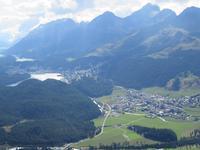 0205 Glacier-Bernina-Express- Auffahrt zum Mouttas Muragl - Blick auf St. Moritz und die Oberengadiner Seen