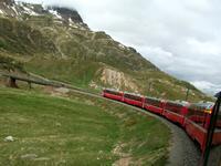 Fahrt mit dem Bernina - Express