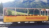 Fahrt mit dem Bernina-Express (Bahnhof in St. Moritz)
