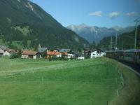 Während der Fahrt mit dem Glacier-Express
