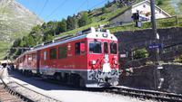 Fahrt mit dem Bernina-Express (Foto-Halt in Alp Grüm)