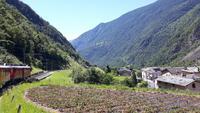 Fahrt mit dem Bernina-Express (Brusio)