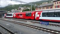Heute fahren wir im Panoramawagen 1. Klasse nach Zermatt