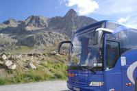 unser Bus auf dem Julierpass