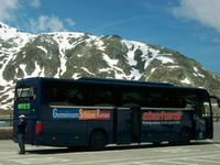 Unser Reisebus am Grimselpass