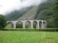 Mit dem Bernina Express unterwegs - Kreisviadukt bei Brusio