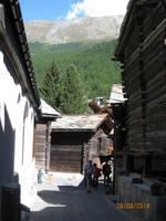 Auf Rundgang durch Zermatt - alter Dorfteil