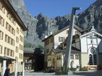 Der Dorfplatz in Leukerbad