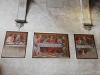 Lugano,S. Maia deglia Angioli mit dem Lettner  und Passionsfreska.