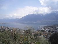 Blick auf Locarno und den Lago Maggiore