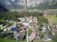 Blick von der Oeschinen-Bahn nach Kandersteg
