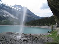 Schleierwasserfall am Oeschinensee