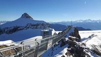 auf dem Glacier 3000 ...