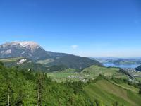 Fahrt mit der Cabrio-Bahn - Blick zum Vierwaldstättersee