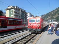 Bahnhof in Brig (Einfahrt des Glacier-Express)