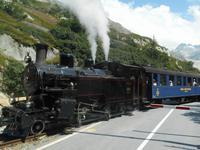 Fahrt zum Grimselpass (Furka-Dampfbahn)
