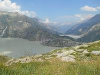 Fahrt vom Grimselpass nach Interlaken (Grimselsee und Räterichsbodensee)