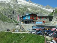 152 Fahrt auf der Furka-Pass- Strasse - Stopp am Hotel Belvedere