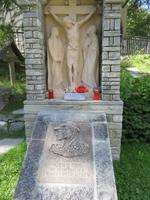 243 Zermatt -Denkmal für Bergführer Taugwalder Vater und Sohn