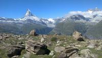 Zermatt, Rothorn, Wanderung entlang des Blumenwegs
