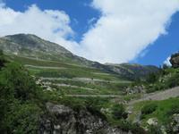 Fahrt nach Mörel  - Blick zur Furka Pass Strasse