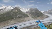 0215 auf dem Bettmerhorn - Blick zum Aletschgletscher
